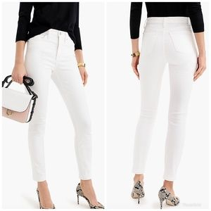 [J. Crew] 9' High Rise Toothpick Jeans in White